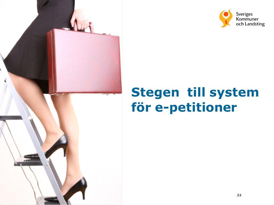 Stegen till system för e-petitioner