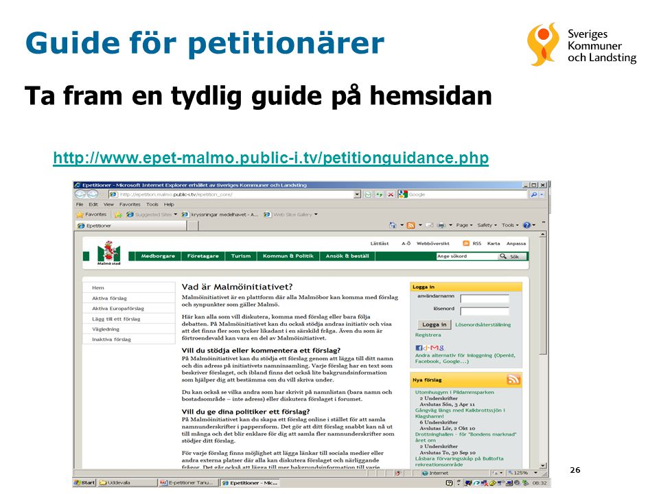 Guide för petitionärer