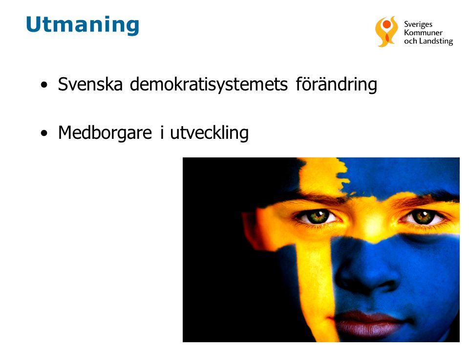 Utmaning Svenska demokratisystemets förändring Medborgare i utveckling