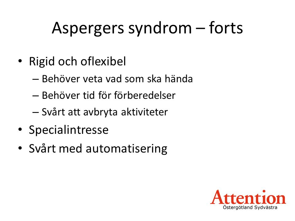 Aspergers syndrom – forts