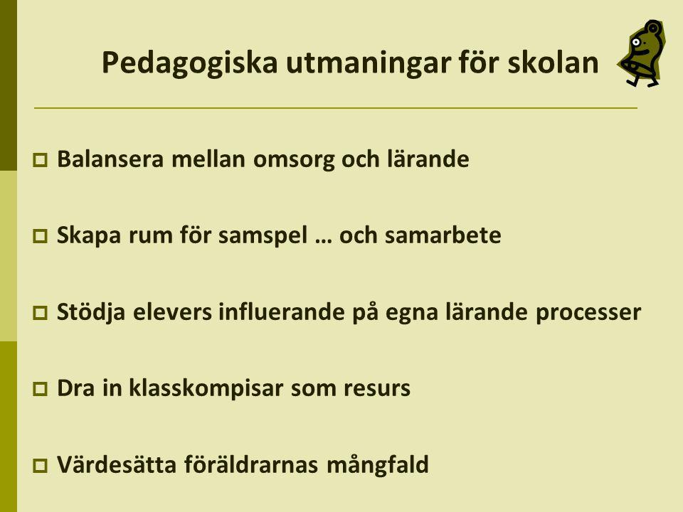 Pedagogiska utmaningar för skolan