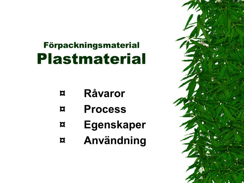 Förpackningsmaterial Plastmaterial