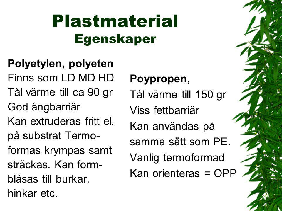 Plastmaterial Egenskaper