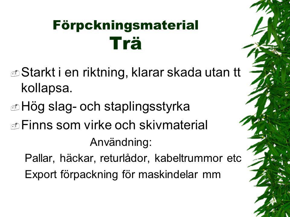 Förpckningsmaterial Trä