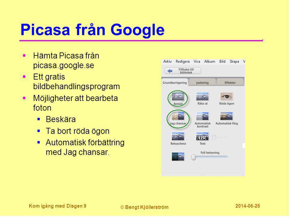 Picasa från Google Hämta Picasa från picasa.google.se