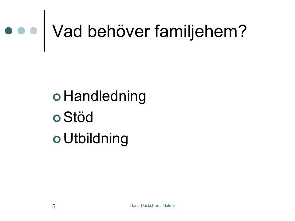 Vad behöver familjehem