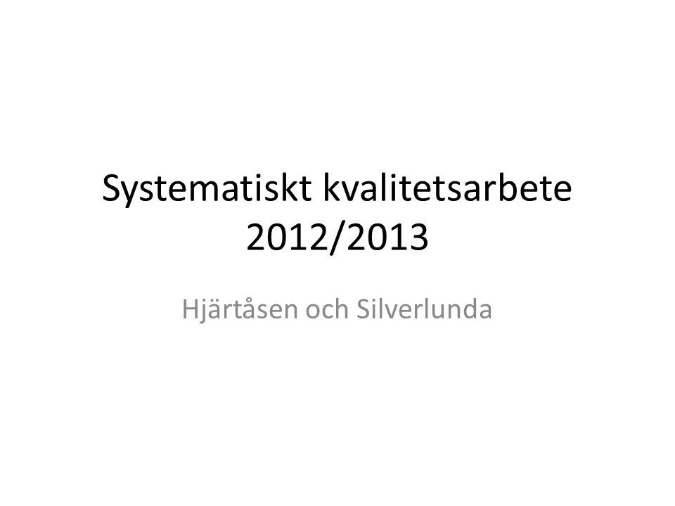 Systematiskt kvalitetsarbete 2012/2013