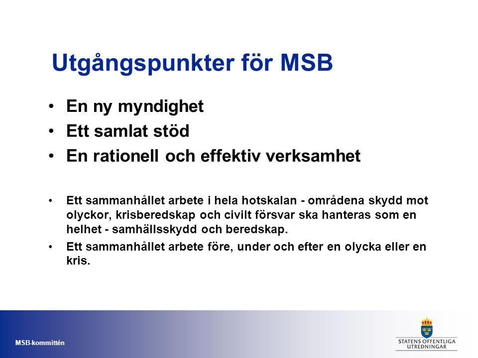 Utgångspunkter för MSB