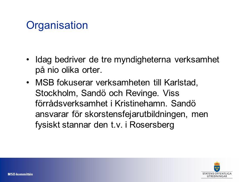 Organisation Idag bedriver de tre myndigheterna verksamhet på nio olika orter.
