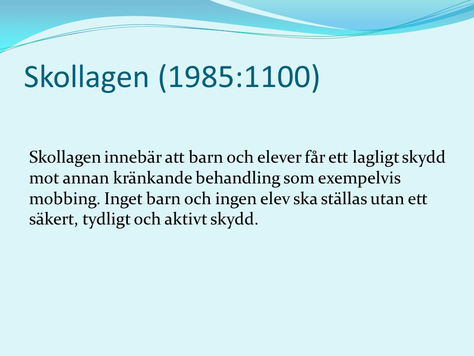 Skollagen (1985:1100)