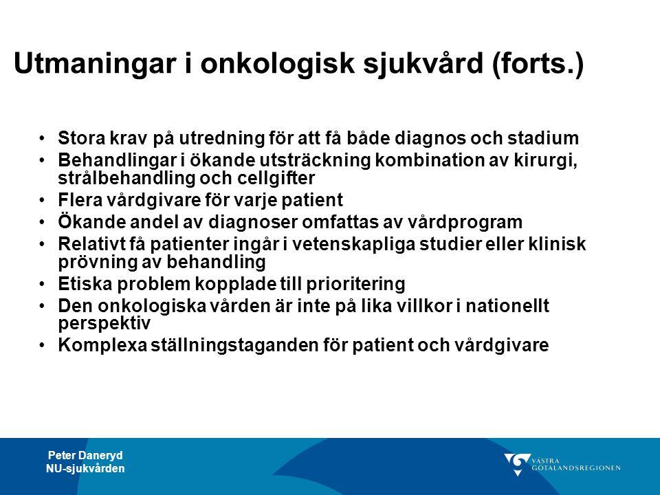 Utmaningar i onkologisk sjukvård (forts.)
