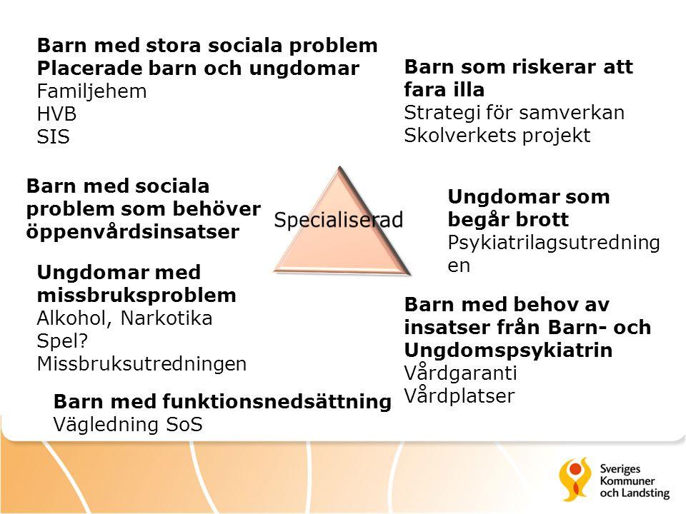 Specialiserad Barn med stora sociala problem
