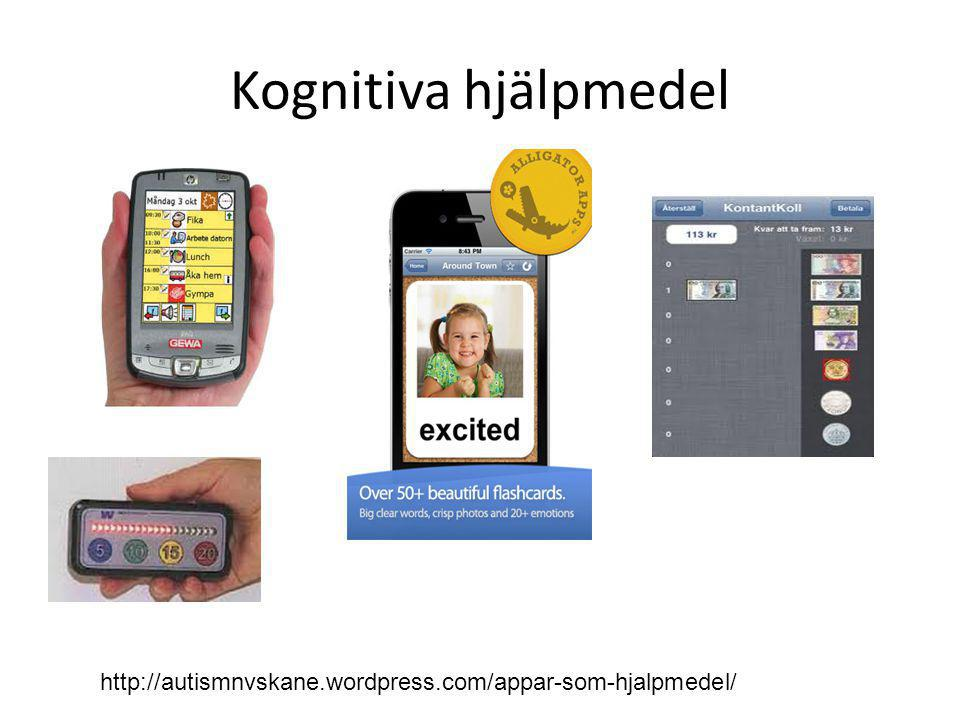 Kognitiva hjälpmedel http://autismnvskane.wordpress.com/appar-som-hjalpmedel/