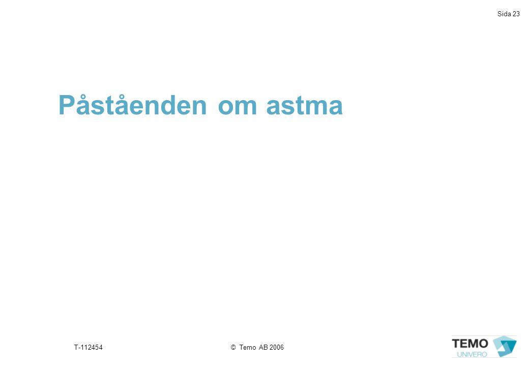 Påståenden om astma