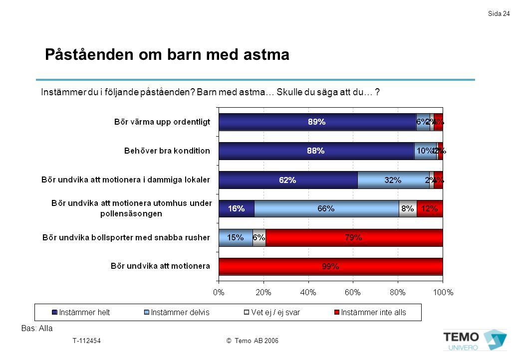 Påståenden om barn med astma
