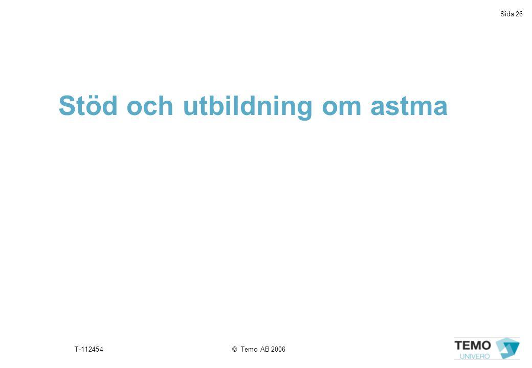 Stöd och utbildning om astma