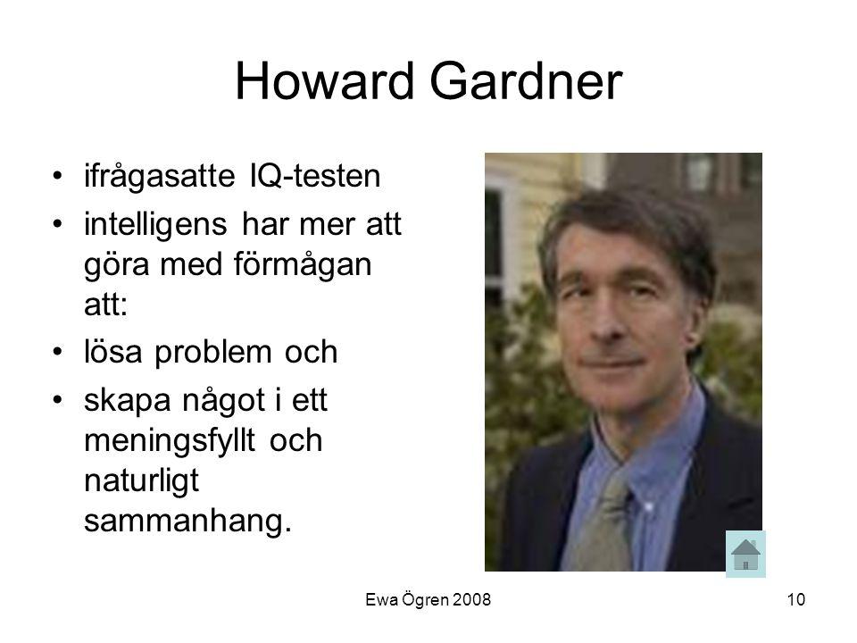 Howard Gardner ifrågasatte IQ-testen