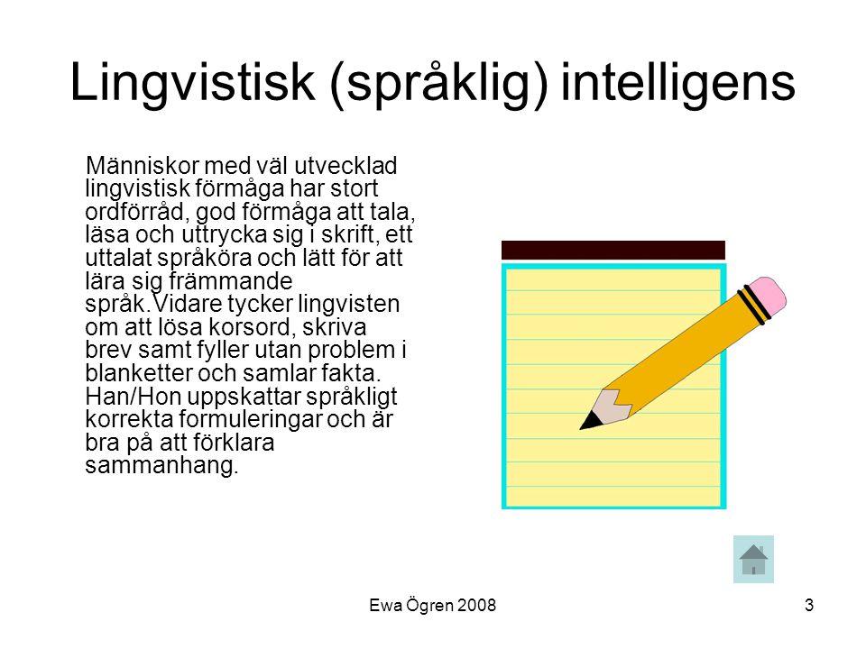 Lingvistisk (språklig) intelligens