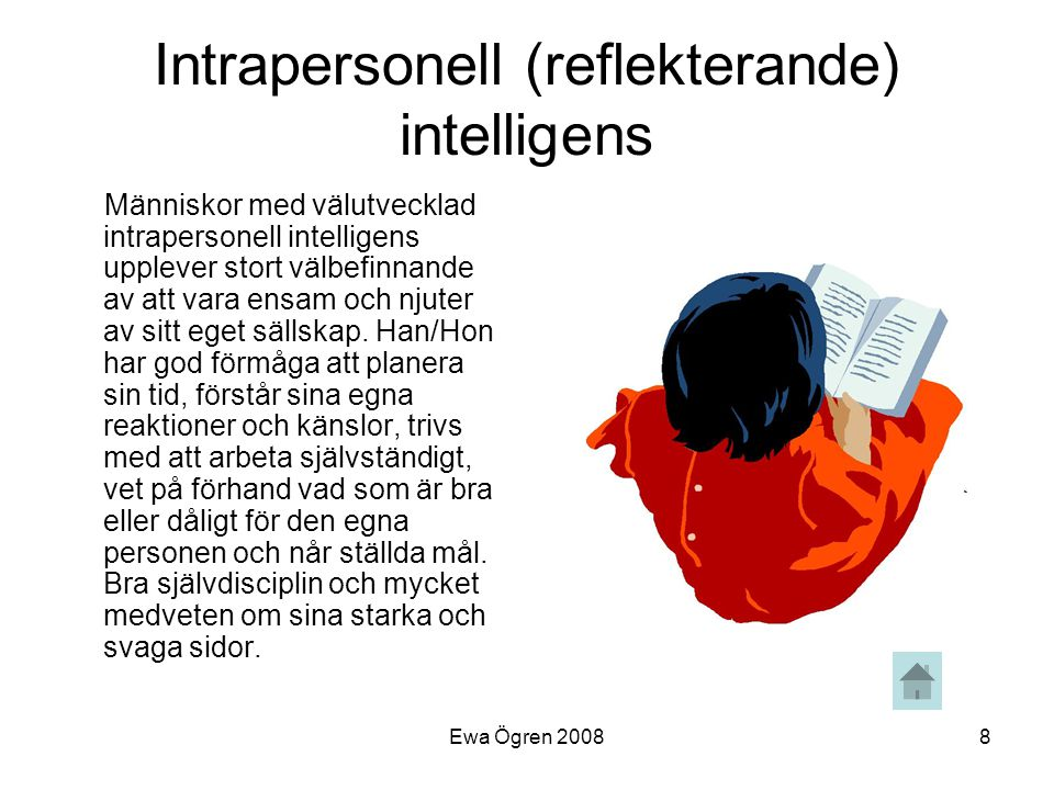 Intrapersonell (reflekterande) intelligens