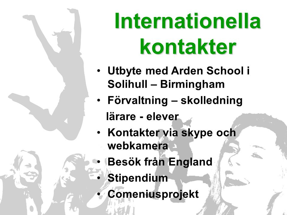 Internationella kontakter