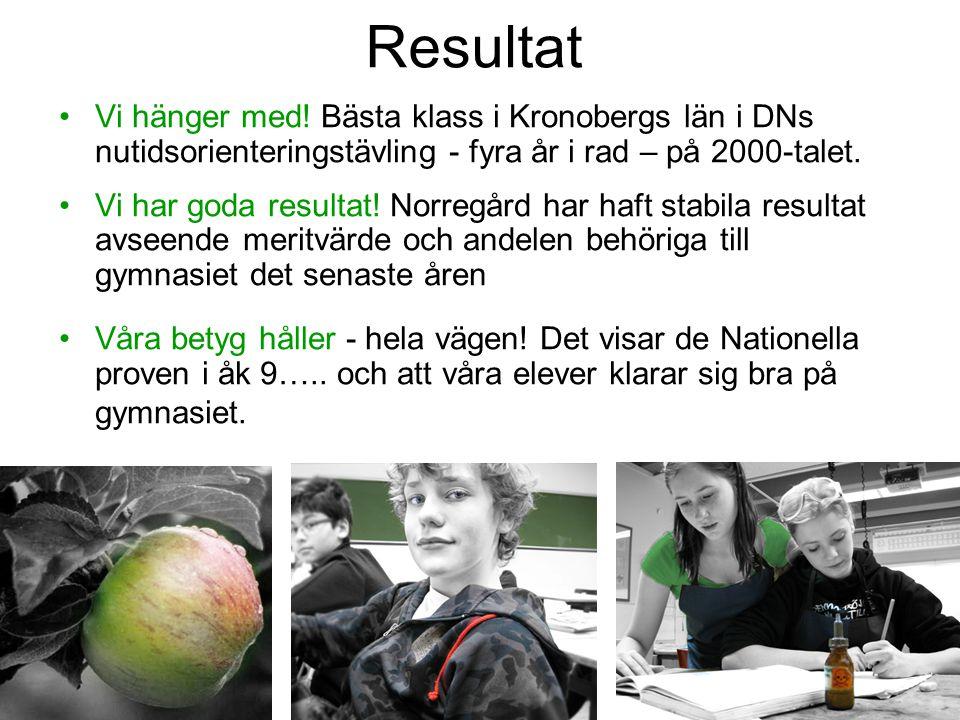 Resultat Vi hänger med! Bästa klass i Kronobergs län i DNs nutidsorienteringstävling - fyra år i rad – på 2000-talet.