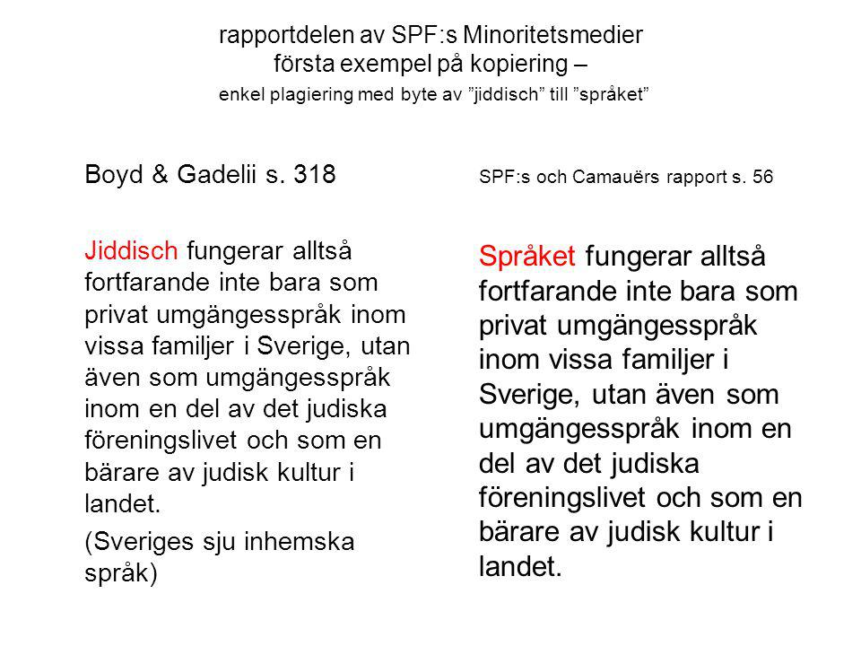 SPF:s och Camauërs rapport s. 56