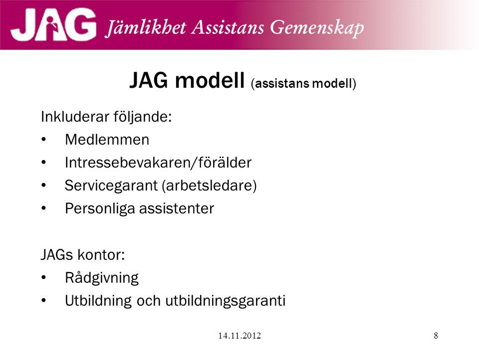 JAG modell (assistans modell)