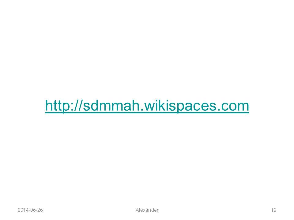 http://sdmmah.wikispaces.com 2017-04-03 Alexander