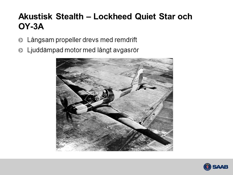 Akustisk Stealth – Lockheed Quiet Star och OY-3A