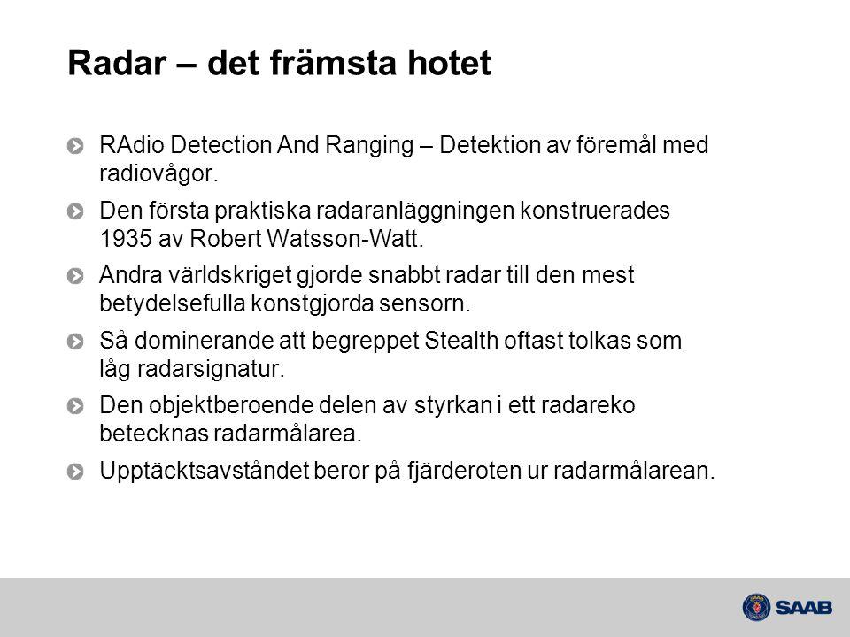 Radar – det främsta hotet