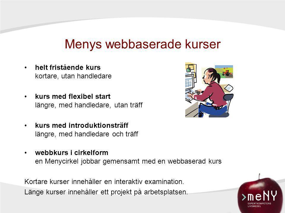 Menys webbaserade kurser