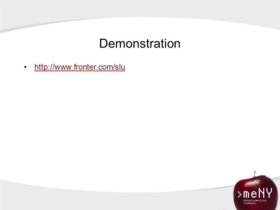 Demonstration http://www.fronter.com/slu