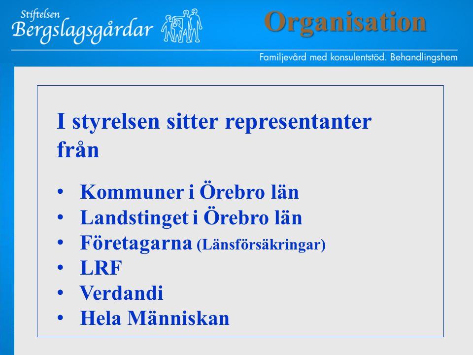 Organisation I styrelsen sitter representanter från