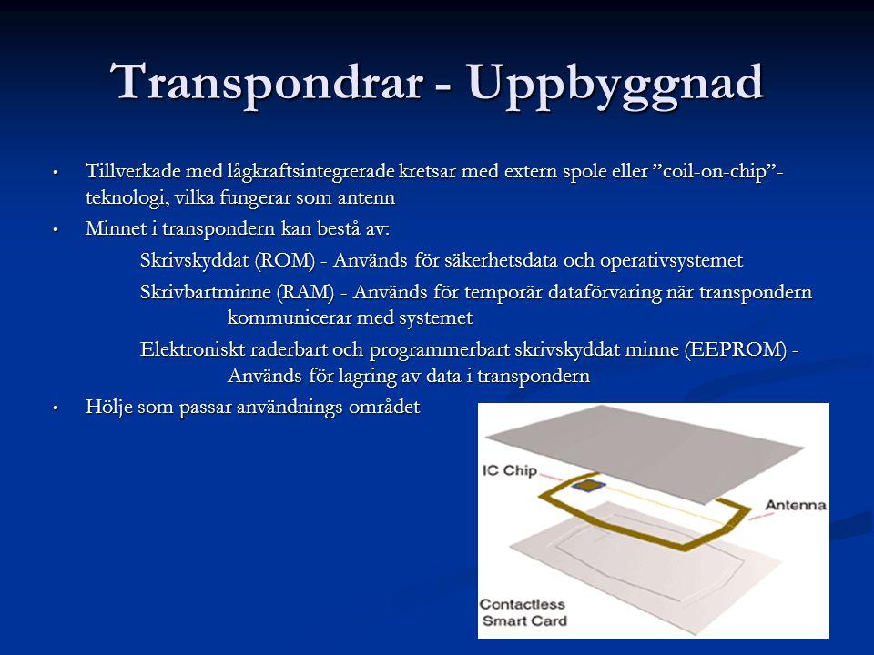 Transpondrar - Uppbyggnad