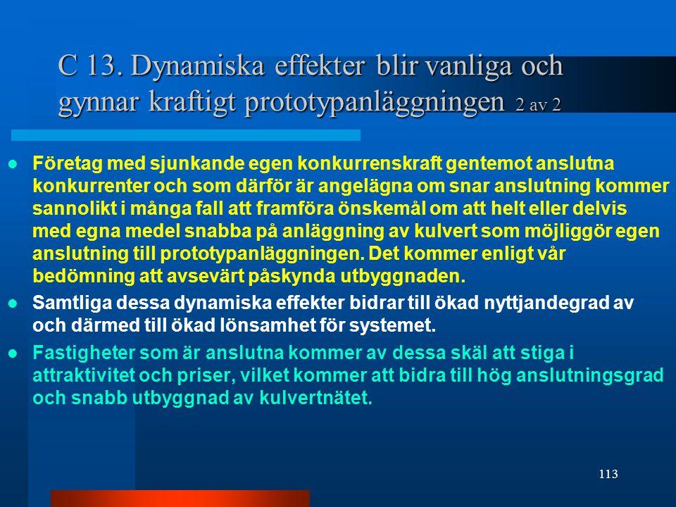 C 13. Dynamiska effekter blir vanliga och gynnar kraftigt prototypanläggningen 2 av 2