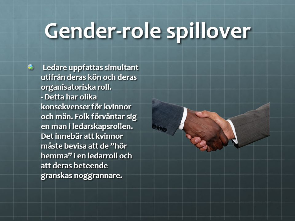 Gender-role spillover
