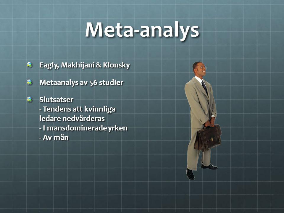 Meta-analys Eagly, Makhijani & Klonsky Metaanalys av 56 studier