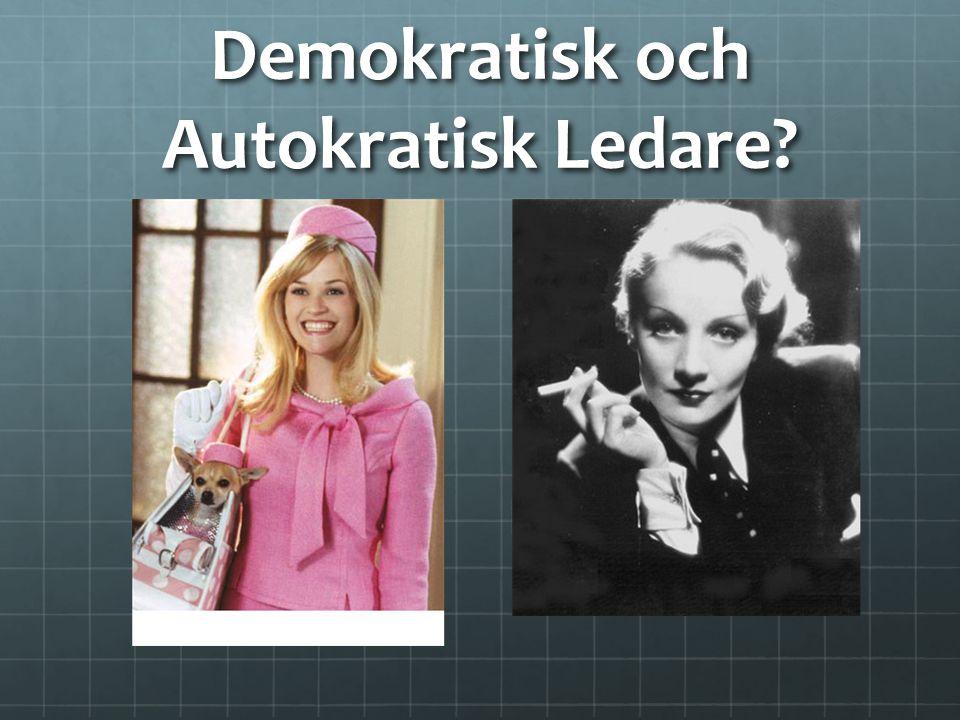 Demokratisk och Autokratisk Ledare