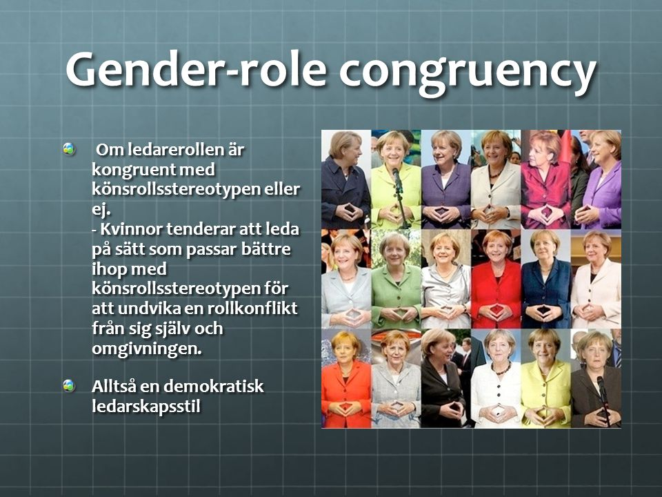 Gender-role congruency