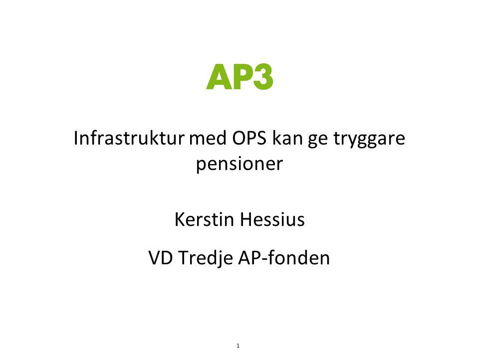 Infrastruktur med OPS kan ge tryggare pensioner