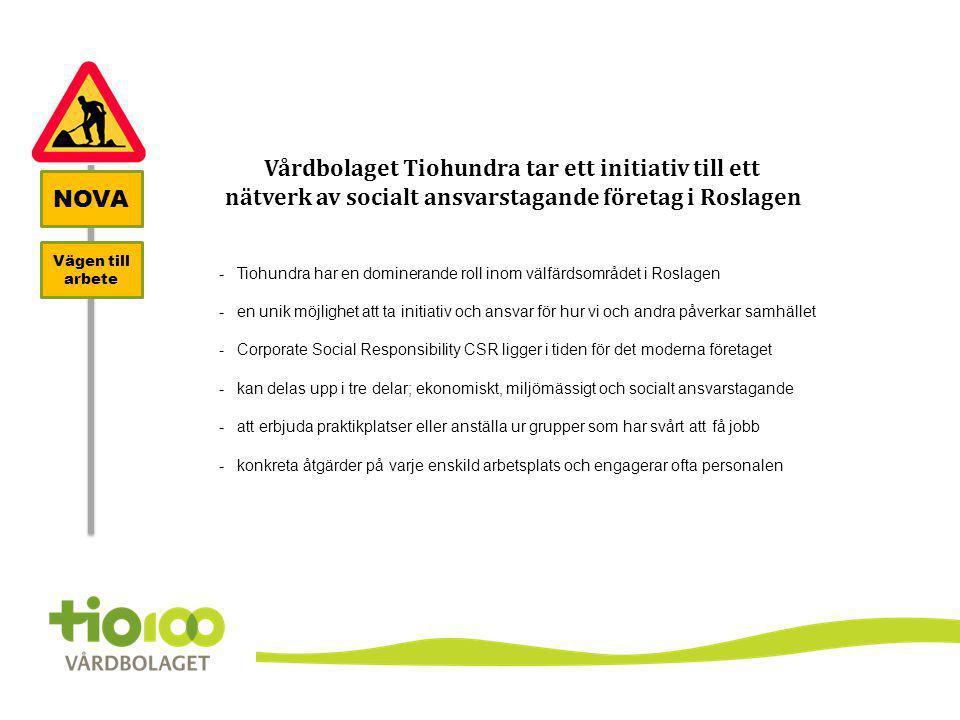 Vårdbolaget Tiohundra tar ett initiativ till ett