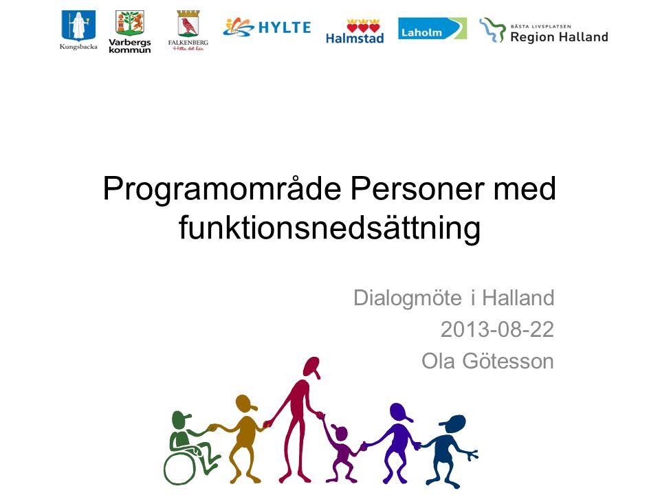 Programområde Personer med funktionsnedsättning