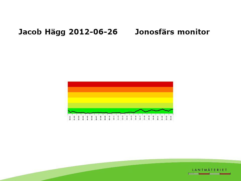 Jacob Hägg 2012-06-26 Jonosfärs monitor