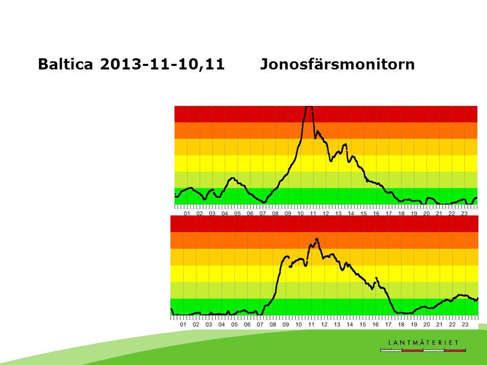 Baltica 2013-11-10,11 Jonosfärsmonitorn