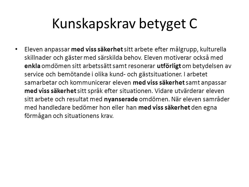 Kunskapskrav betyget C