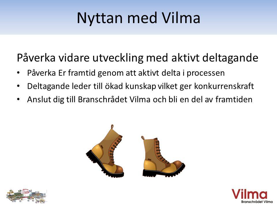 Nyttan med Vilma Påverka vidare utveckling med aktivt deltagande
