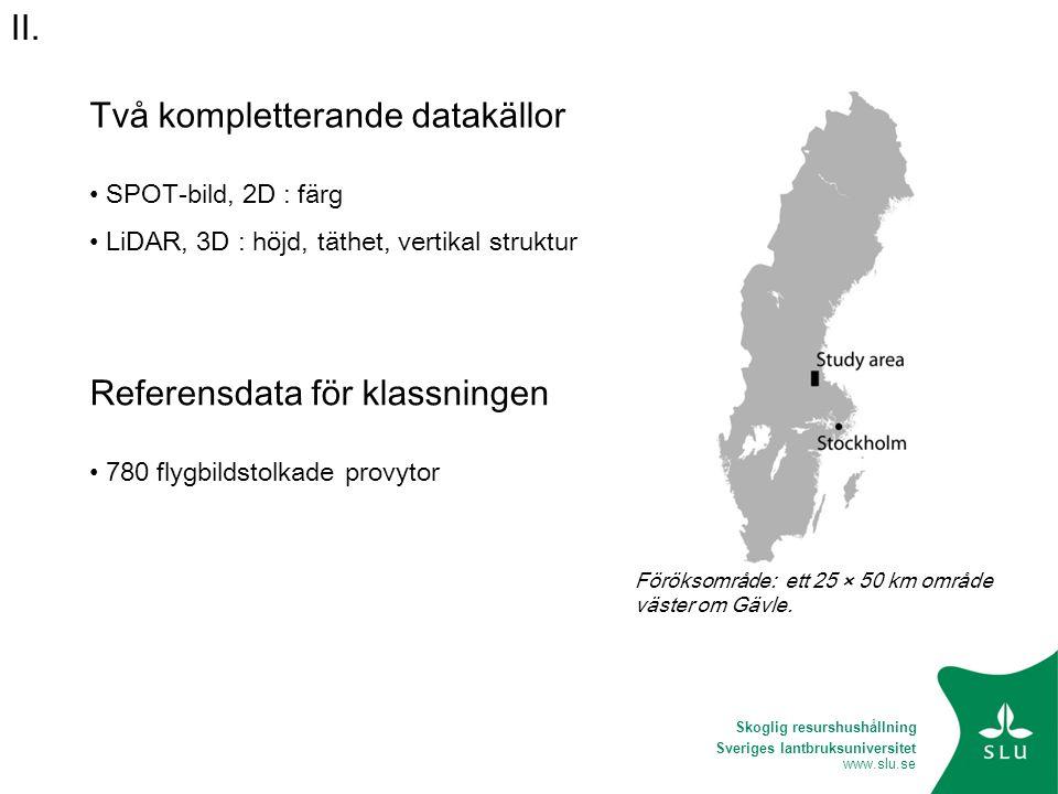 Två kompletterande datakällor