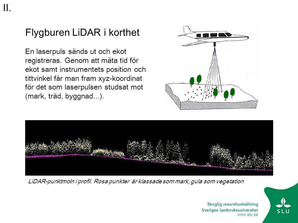 Flygburen LiDAR i korthet