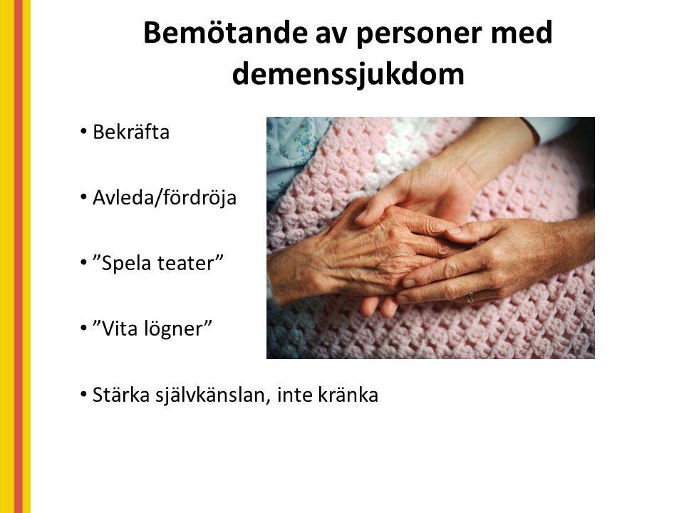 Bemötande av personer med demenssjukdom