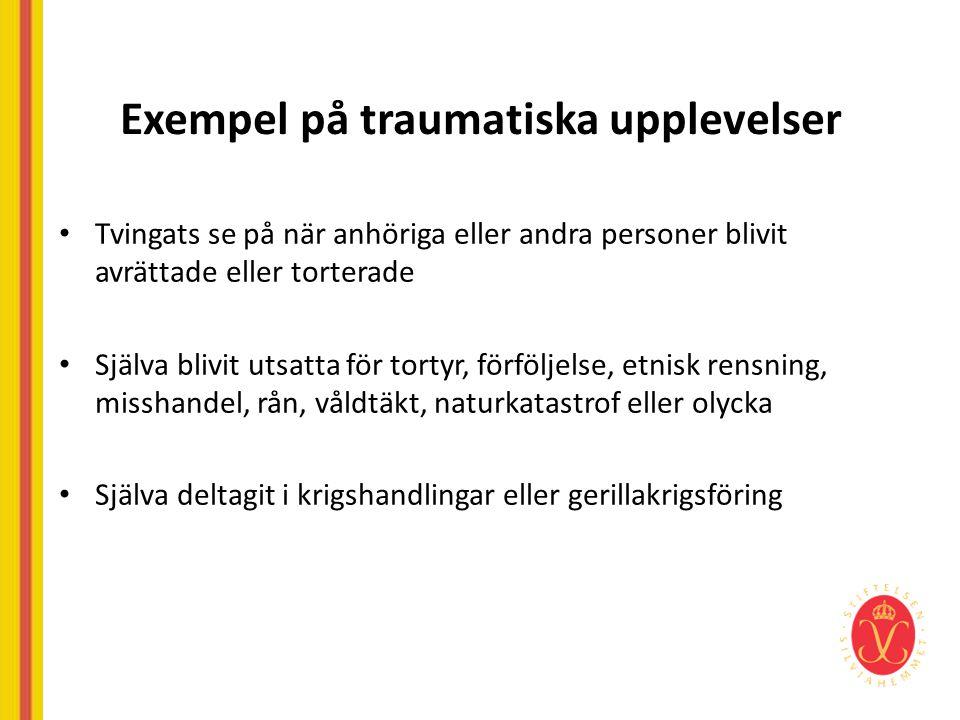 Exempel på traumatiska upplevelser